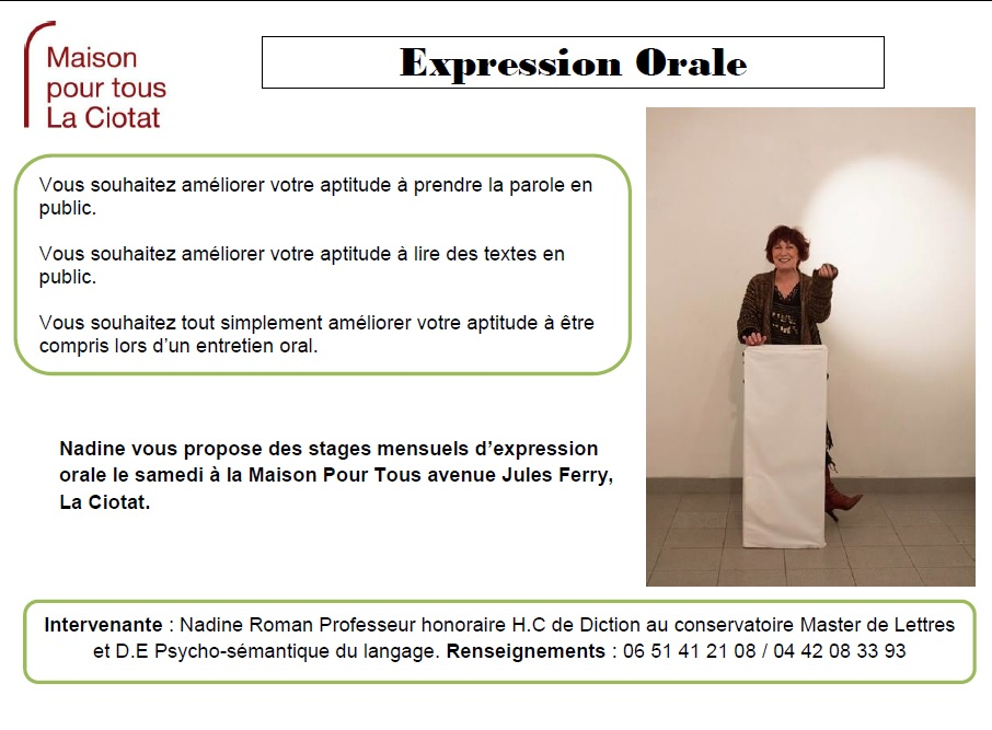 Expression orale nadine roman