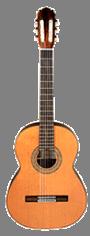 Guitarra fondo transparente